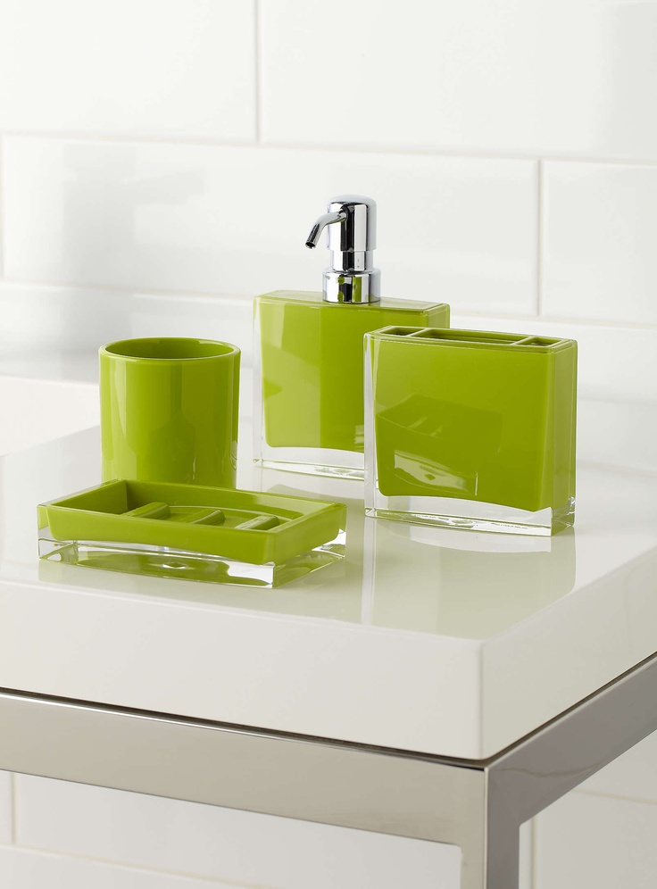 exclusively from simons maison stylish bathroom accessories that combine coloured and transparent sturdy acrylic a modern look in the bathroom pure - Bathroom Accessories Colours