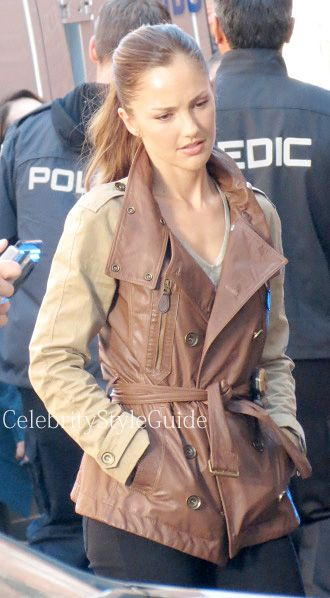 Minka Kelly and Burberry Wiltfield Trench Coat, . See the ...