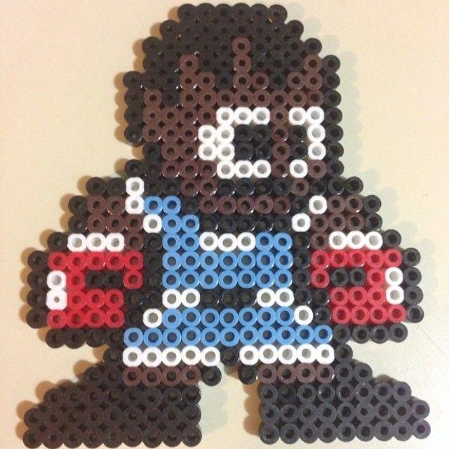 Balrog Street Fighter perler beads by cgbdesigns