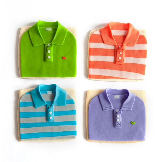 polo shirt cookies {manjar via etsy} #cookies #fathersday --- these are amazing!!
