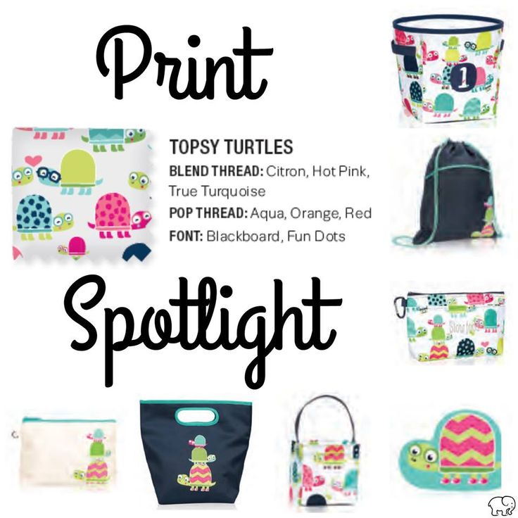 Print Spotlight for Spring/Summer 2017 Thirty-One - Topsy Turtles #newcatalog #Carrie31Bags