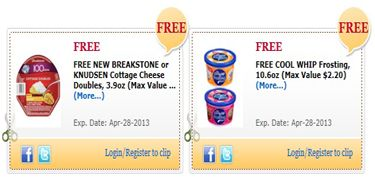 FREE Cool Whip Frosting & Breakstone Cottage Cheese for Commissary Shoppers! on http://hunt4freebies.com/
