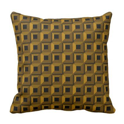 Barnacles in Gold Outdoor Throw Pillow - home gifts ideas decor special unique custom individual customized individualized