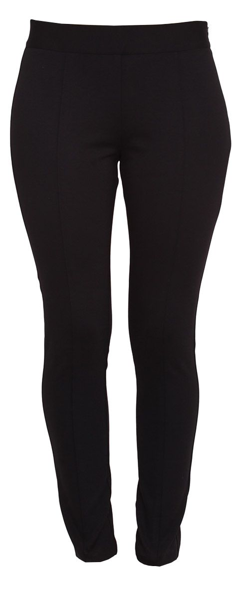 Tight-fitting trousers with side zip