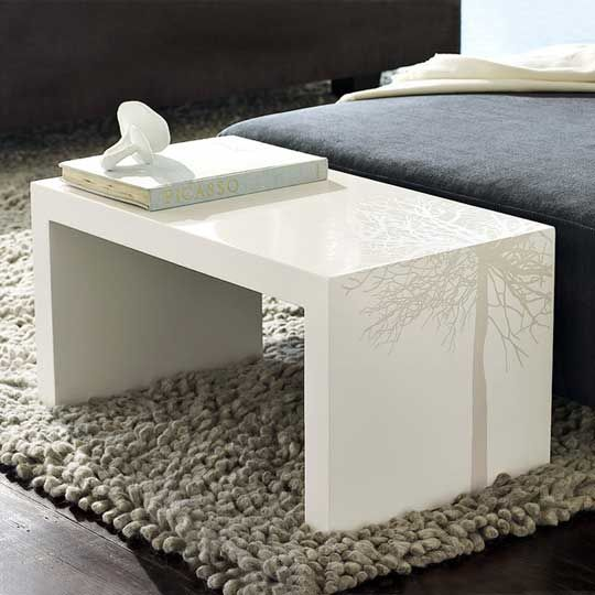 diy side tables | Add a little graphic nature to your decor with this Bridge side table ...