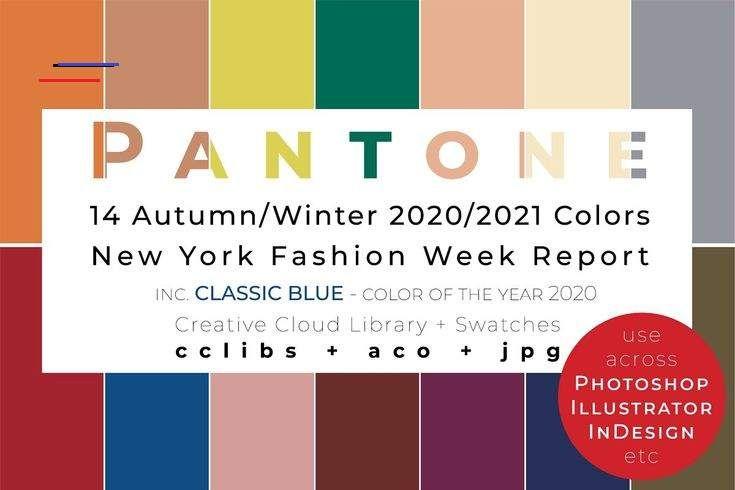 14 pantone nyfw aw 202021 palette unique illustrator add ons 4 10 2020 2021 almond oil amberglow autumn banner in mode fur frauen frau sommer 2038c 1795c