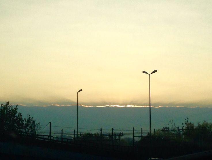 Nuvole sole all'alba