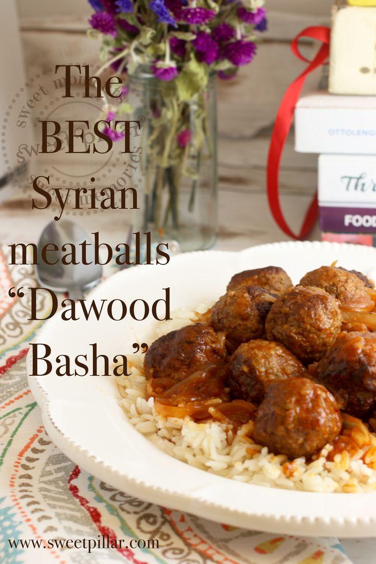 Dawood Basha (Syrian Meatballs in tomato pomegranate sauce — Sweet Pillar™