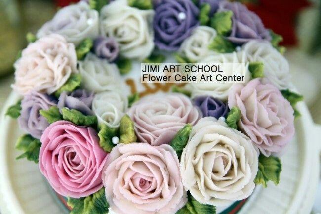 #rice cake#pink#cake#앙금플라워#flower cake#flower#rose#decoration#love#korea cake#korea food#지미아트스쿨#앙금플라워떡케이크#떡공예