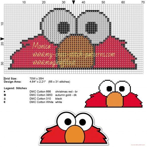 Ojos de Elmo patrón punto de cruz