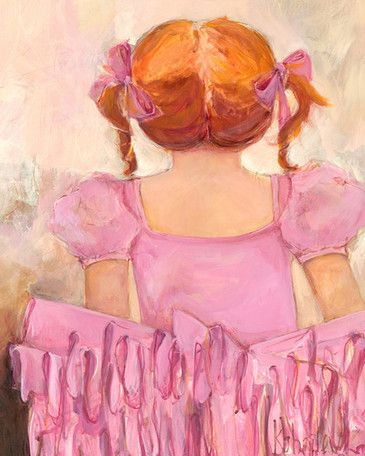 Angelic Ballerina Red Hair by Kristina Bass Bailey Canvas Art