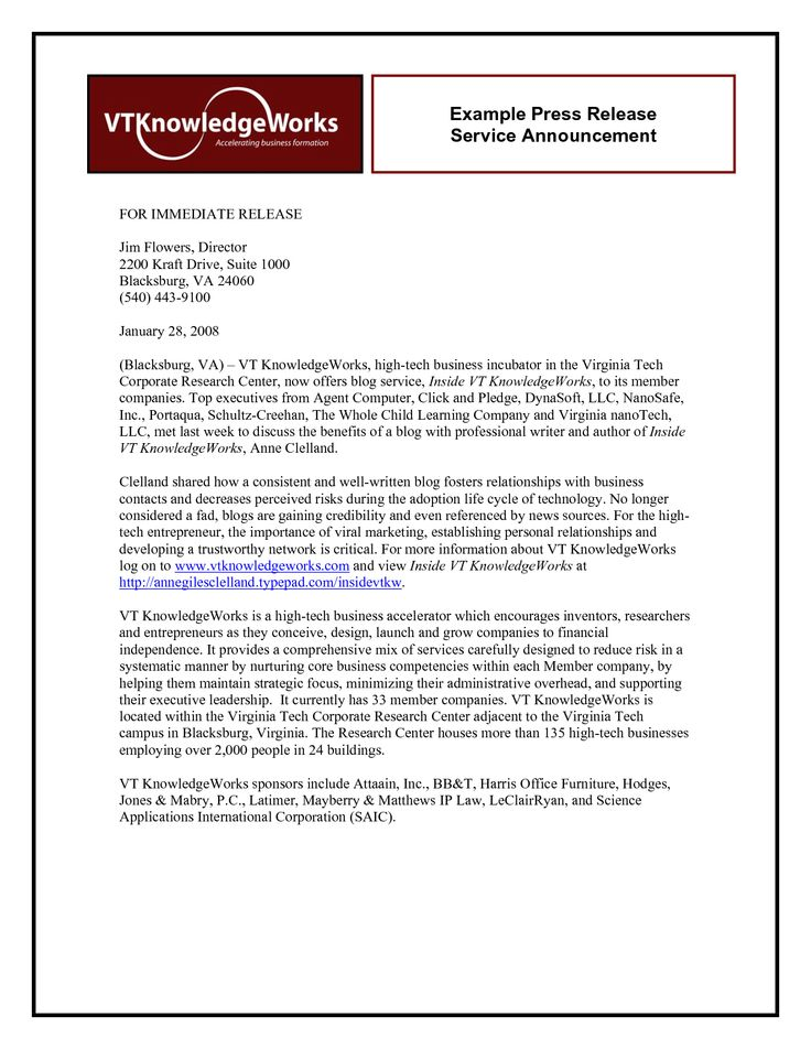 example of a press release - Google Search   Writing   Pinterest