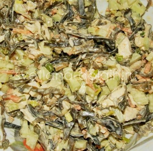 Ну очень вкусный диетический салат с морской капустой! Путь к похудению лежит именно через этот салат! http://svetlana-dolgih.ru/salat-s-morskoj-kapustoj/