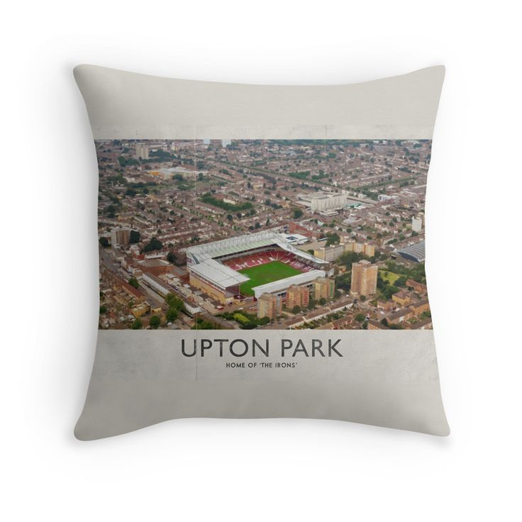 Vintage Football Grounds - Upton Park (West Ham United FC) Throw Pillows