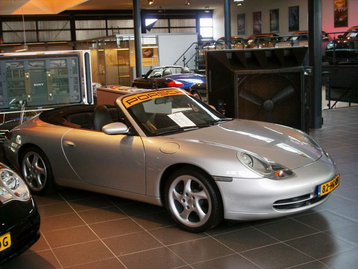 Port-A-Cool evaporative cooler in a Porsche dealership