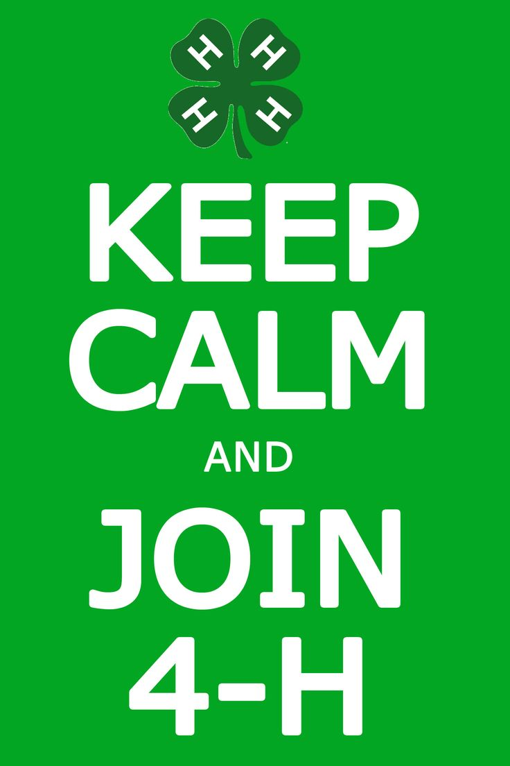 Keep Calm and Join 4-H @Amy Gallimore