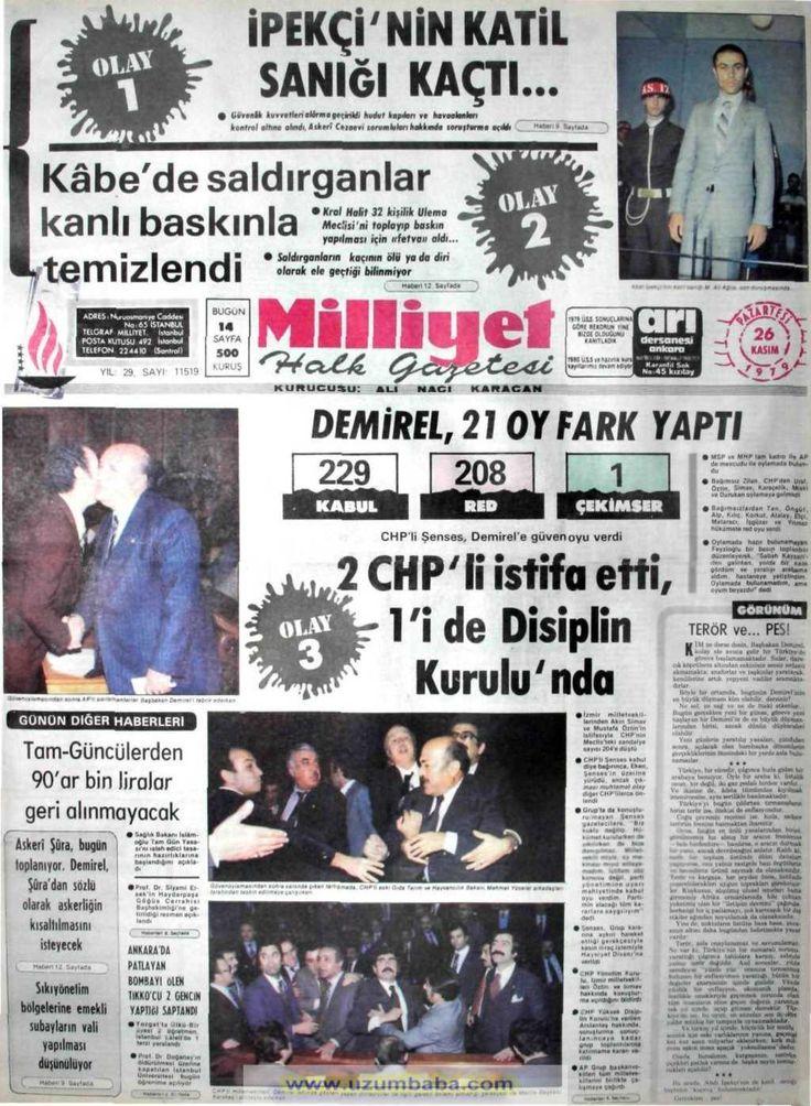 Milliyet gazetesi 26 kasım 1979