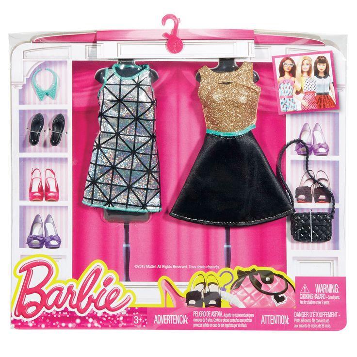 Barbie dukketøj, 2 sæt - sorte kjoler | LirumLarumLeg