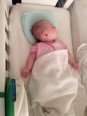 Baby Mila enjoying her Mije Head Rest