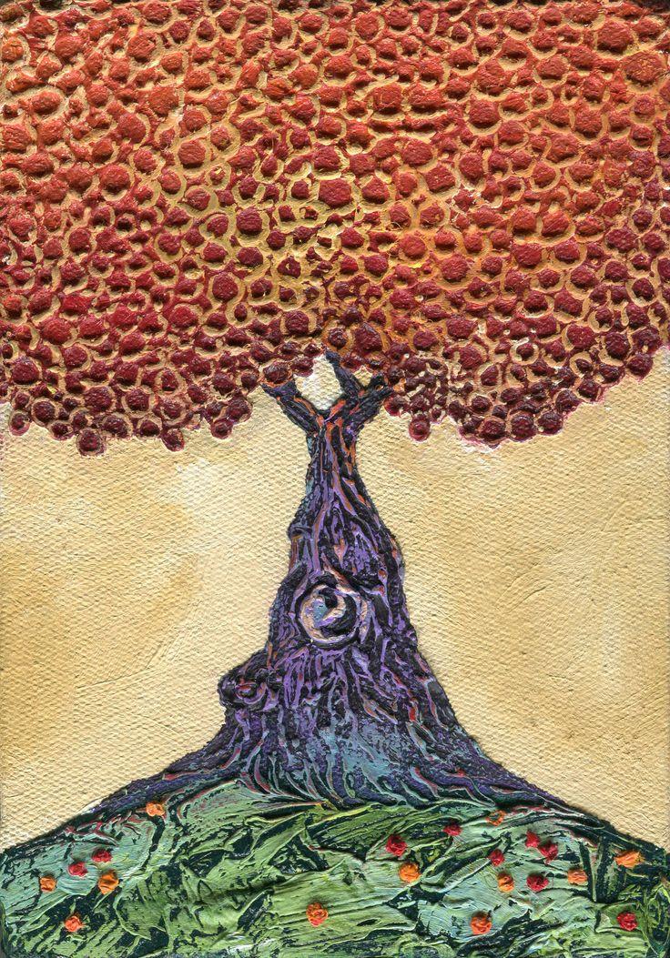 magic tree - oil on canvas