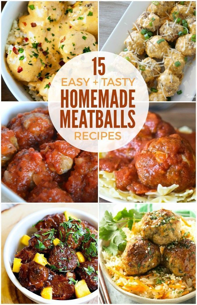 Easy Homemade Meatballs Recipes for your next party or potluck