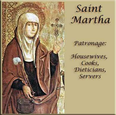 Saint Martha: today is the feast day of St Martha and my birthday :)  awesome