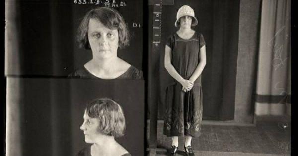 Fotos policiales de los años 20. Sorprendentes por el motivo del encarcelamiento