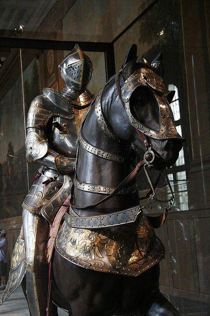 armored horse and rider by bobmorton, via Flickr