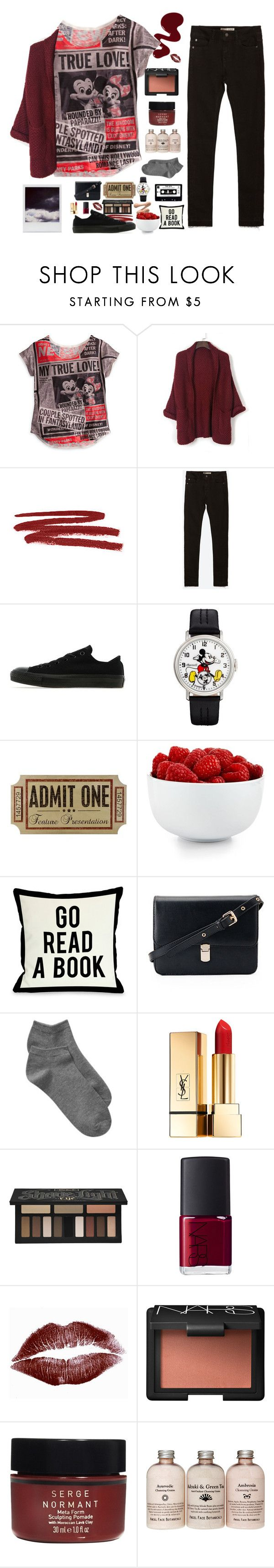 """""""Update"""" by polystar10 ❤ liked on Polyvore featuring moda, Disney, WithChic, Bobbi Brown Cosmetics, Zara, Converse, The Cellar, One Bella Casa, Gap i Yves Saint Laurent"""