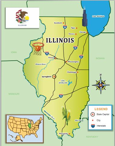 Journey Around Illinois And Its Famous Cities With Our Us Edition State Journal Little