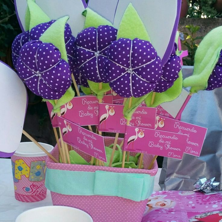 Fabric Flowers baby shower