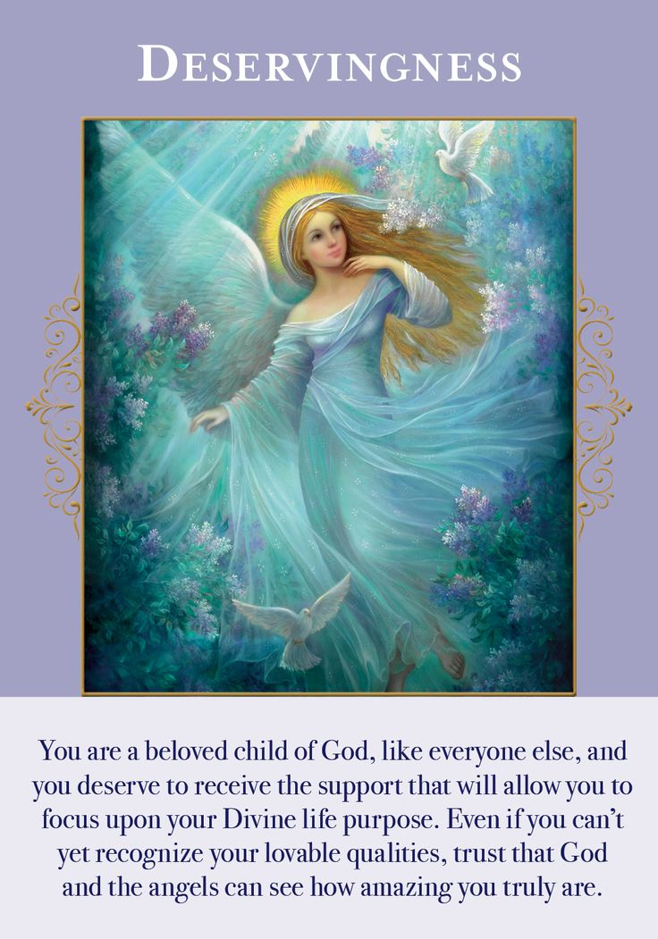 Oracle Card Deservingness | Doreen Virtue - Official Angel Therapy Website