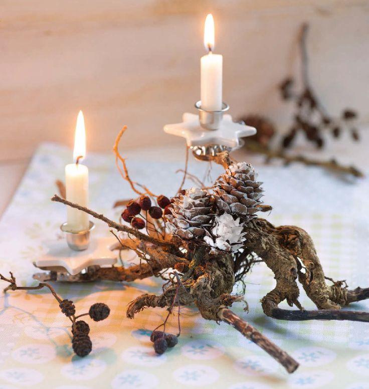Kreative Weihnachtsdeko - Kerzenleuchter aus einer