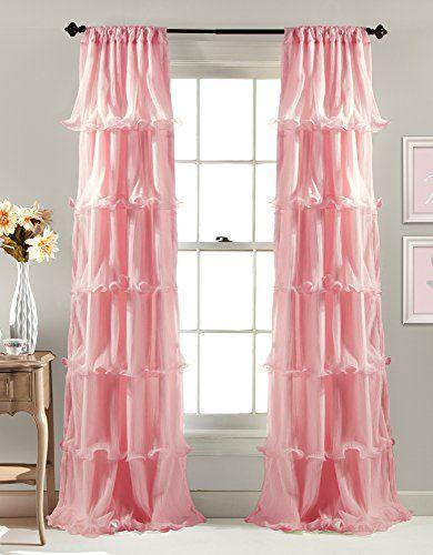 Lush Decor Nerina Window Curtain 84 By 54 Inch Pink