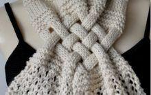 Cachecol Trançado Em Trico – Como Fazer