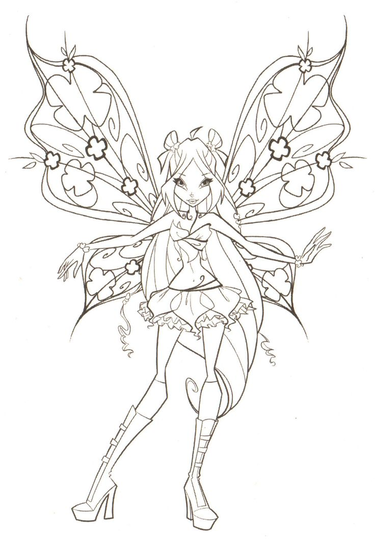 free online fairy coloring pages - photo#16