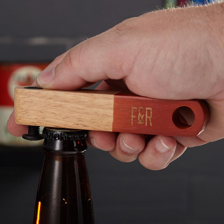 Stop wasting your time with flimsy beer bottle openers, and check out this rugged bottle opener, complete with a manly bolt! This no-frills, old fashioned design brings together well tested elements.