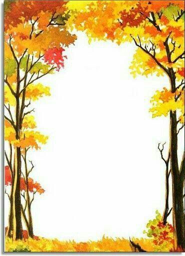 Sonbahar temalı çerçeve.
