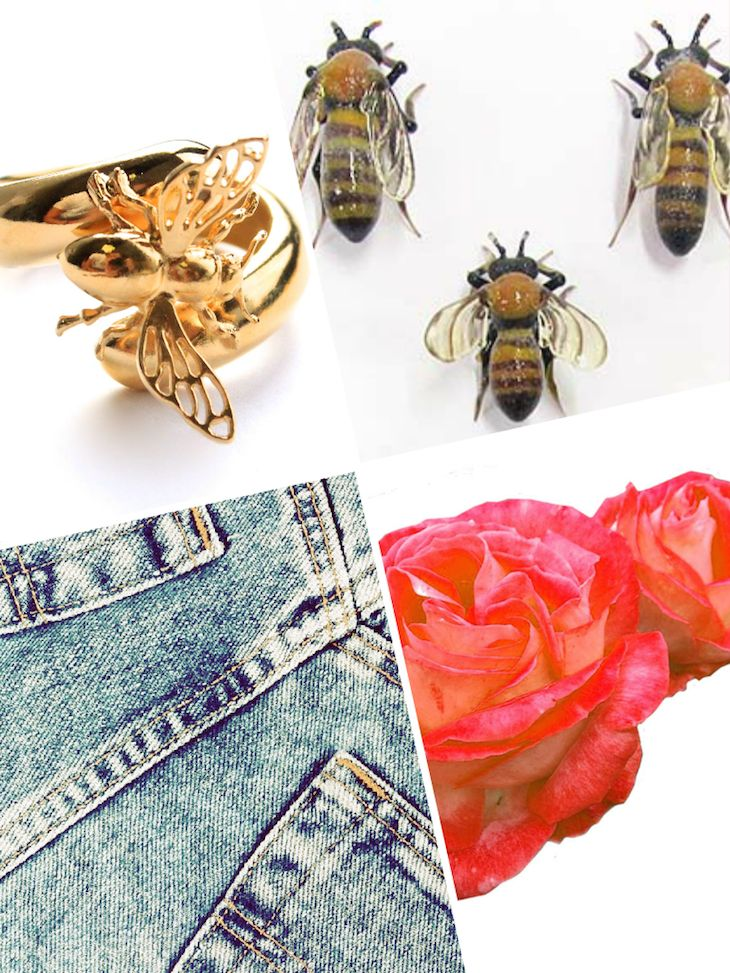 insect jewels  @ipstyle #jewels #fashion #summer   #denim #rose #insect #bijoux