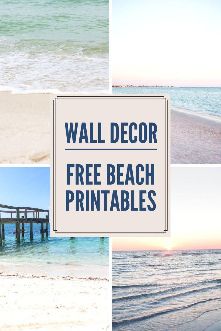 Decorating With Beach Photos Free Printable Beach Wall Art