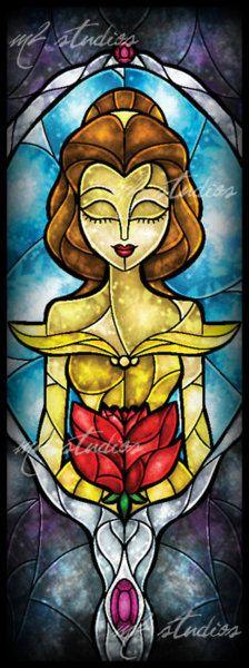 Belle Stained Glass Window (my favorite Disney movie)