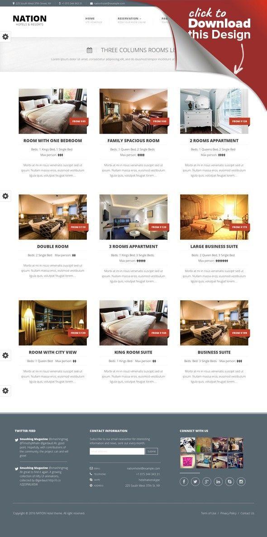 Nation Hotel Responsive Wordpress Theme Accommodation Apartment