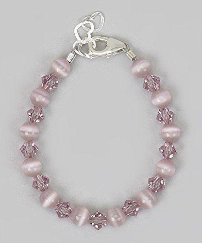 Crystal Dream Elegant Purple Cats Eye Beads with Purple S...