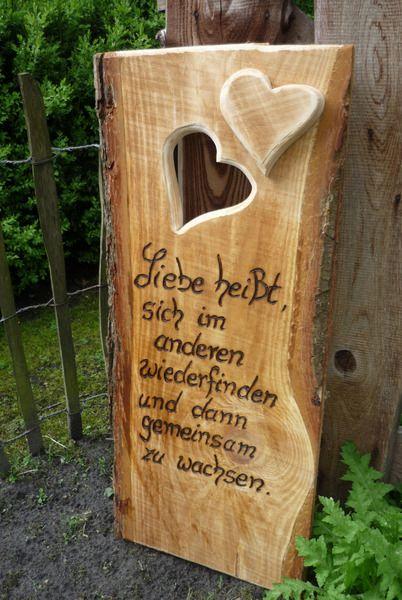 Hochzeit ♥♥Hochzeitsspruch♥♥ von Holz- Kreativ auf DaWanda.com