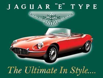 "Jaguar E Type Metal Sign: Automobiles and Cars Decor Wall Accent by OMSC. $19.50. Ships in Ploy-bag for complete protection; Glossy, full-color, enamalized imaged baked onto thick, 24-gauge steel; Rounded corners with holes for easy hanging; Eco-friendly process, hand-made in the USA; This sign measures 16"" x 12"" (400 mm x 300 mm). The ""Jaguar E Type Metal Sign"" is hand-made in America. These sturdy metal signs will perfectly accent any kitchen, home, bar, pub..."