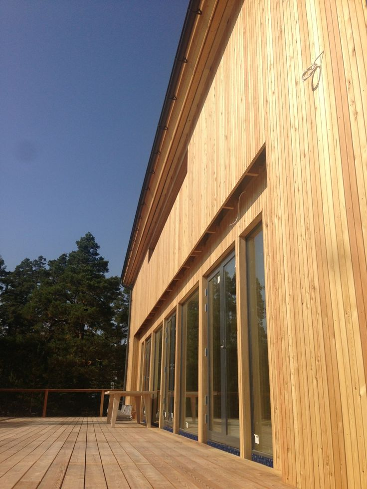 Facade and terrace of Larch.