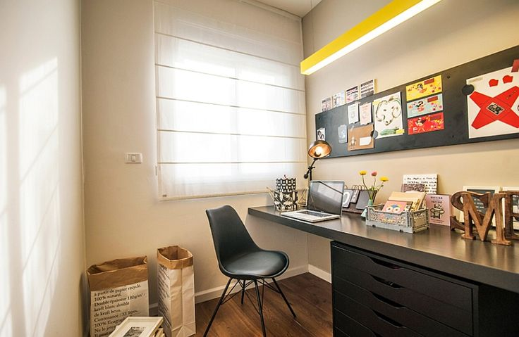 7c6a4  Elegant workstation in black 90s Apartment In Tel Aviv Gets A Trendy, Eclectic Makeover Trendy Makeover Gets Eclectic Aviv Apartment