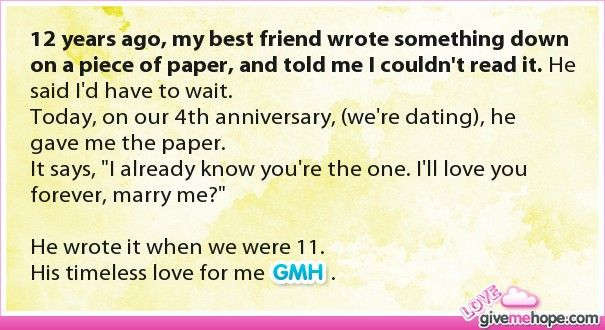 True love – 12 years ago, m