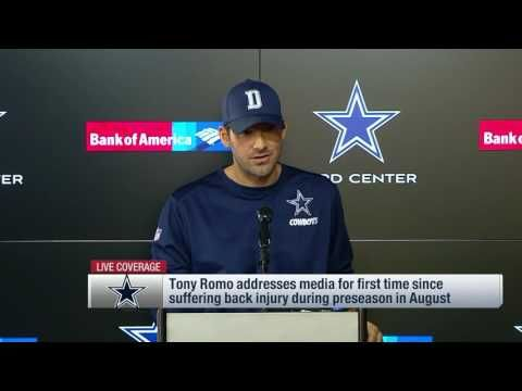 Tony Romo's Speech!  Just goes to show what a class act this man really is and how much of a Team Player he is!  It's unfortunate that Tony has carried the Cowboys for years and years and now they have the best team with a great defense, offense and running back and he is not going to reap the awards of it!
