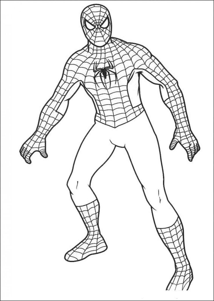 напечатать раскраски человек паук